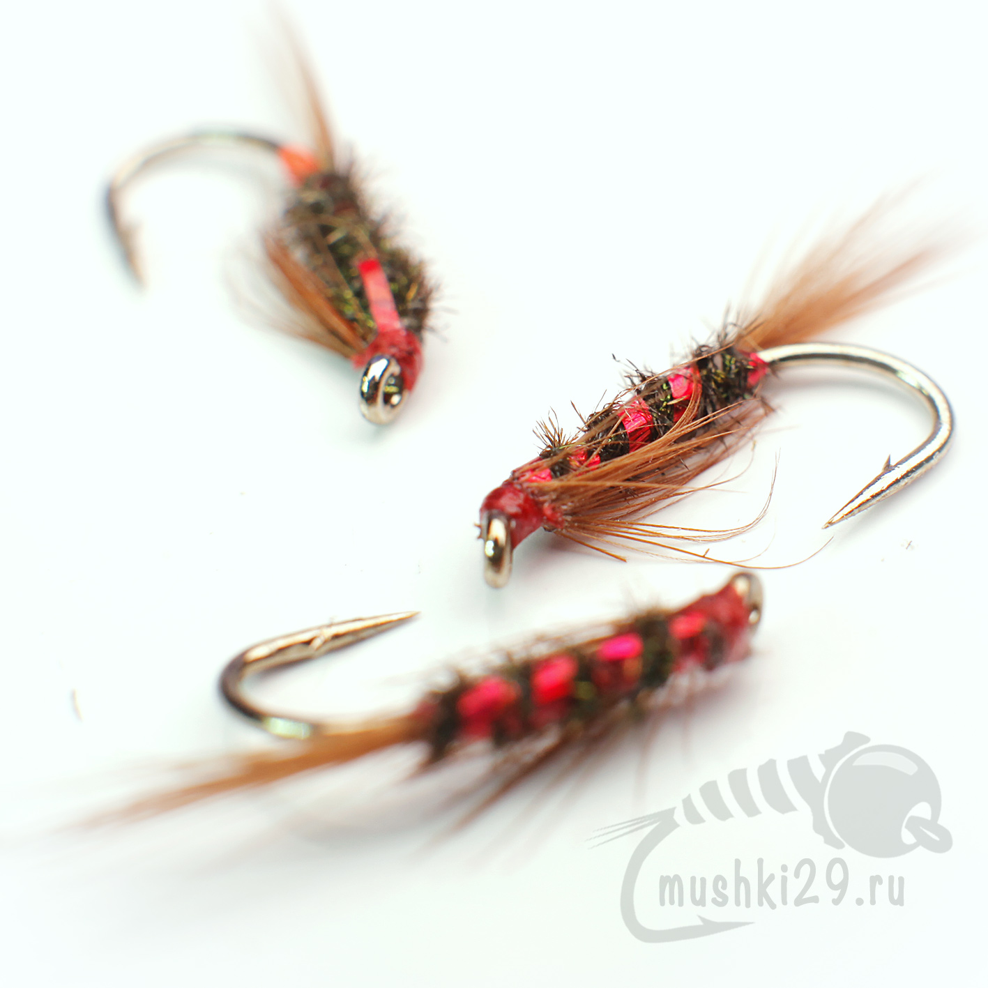 Peacock Eye Diawl Bach Red