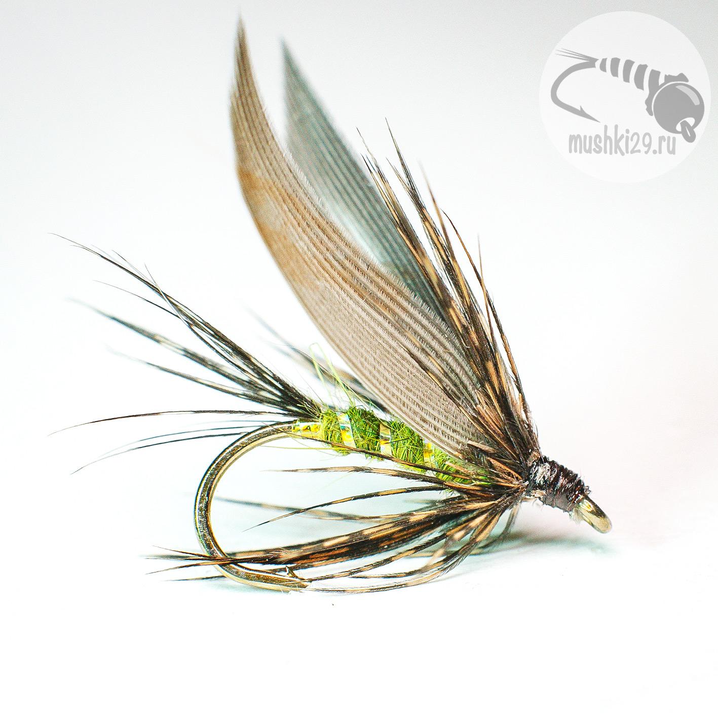 Wet green Caddis