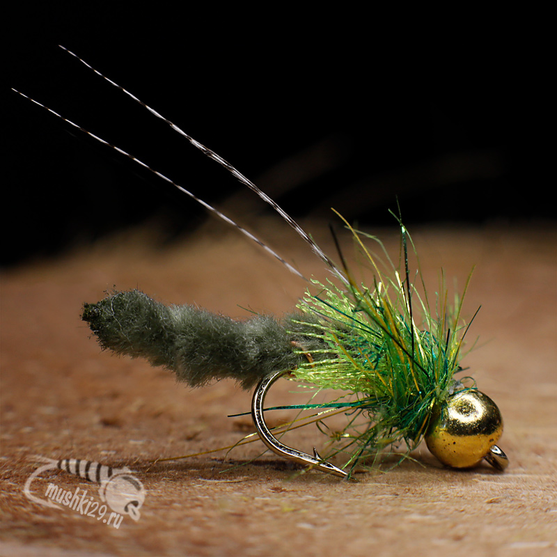 Bright Caddis Pupa
