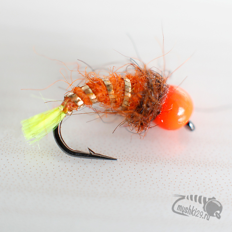 Pink Caddis green tail